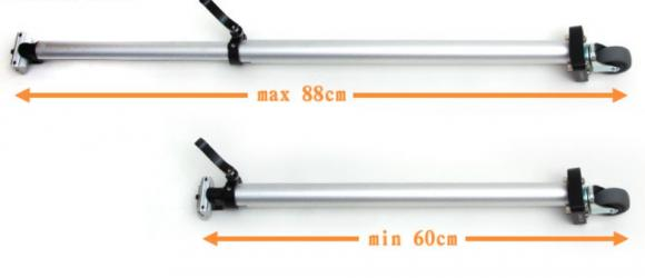 33 9mm Super Long Telescopic Seatpost With Rotary Caster For