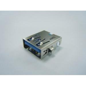 USB 3.0 A Type Single Port Receptacle Right Angle, Dip Type, Sink