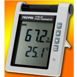 Hygro Thermometer with Audio Alarm Features