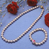 Magnetic Pearl Necklace And Earrings Set