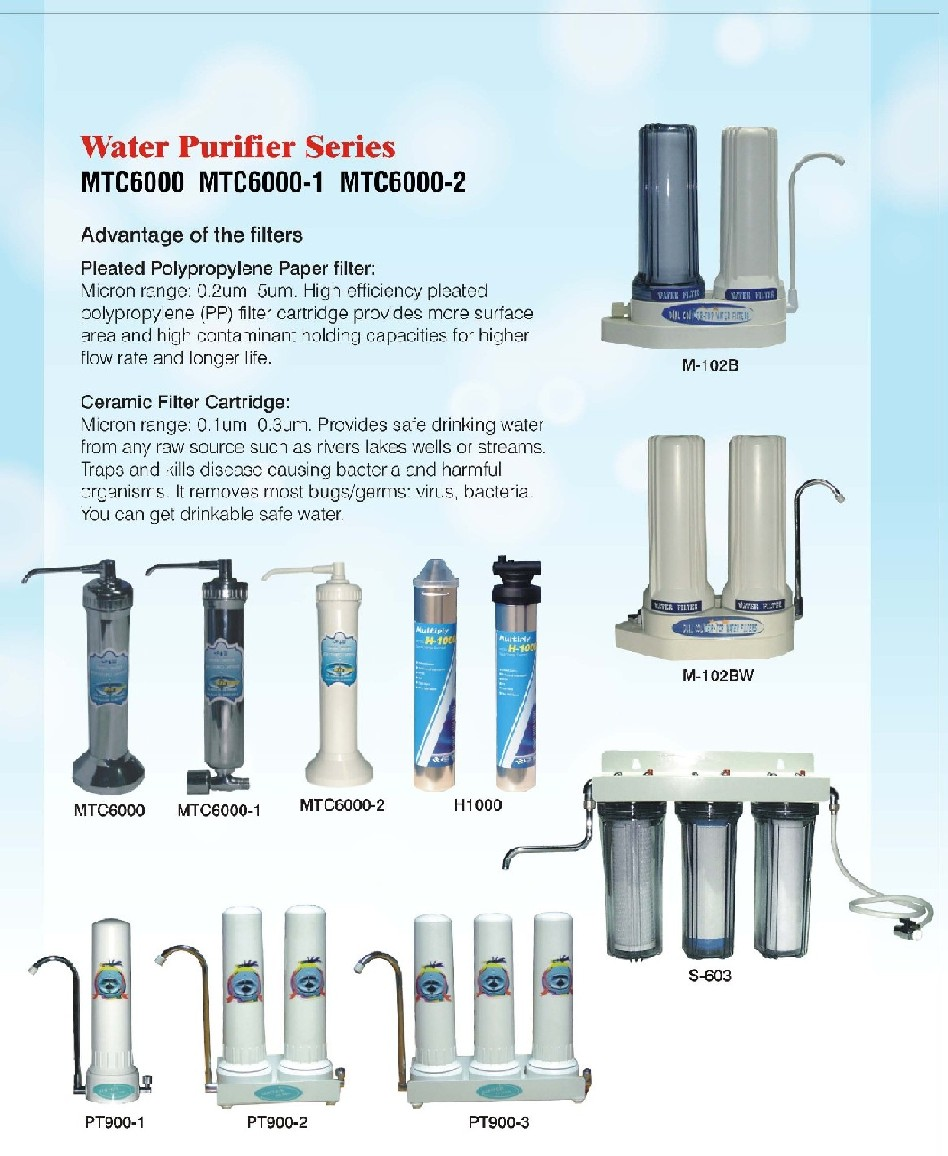 Water Filtering Products Aqua-Pure leads the way in establishing a new standard for residential filtration systems that run from whole house units to ice maker units