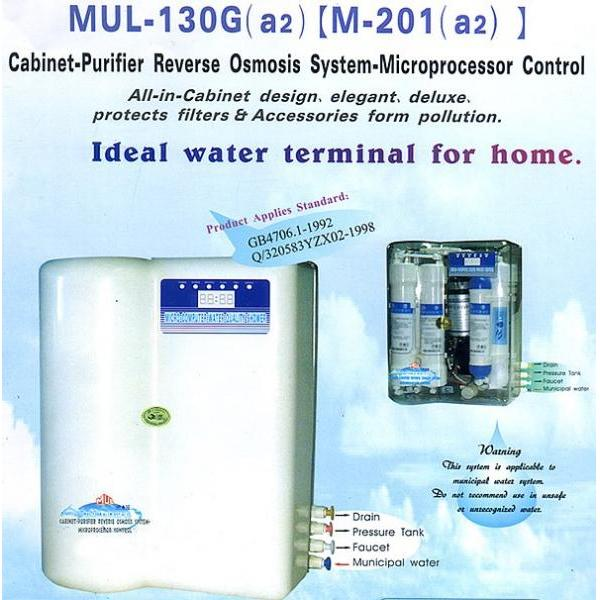 Cabinet-Purifier Reverse Osmosis System-Microprocessor Control