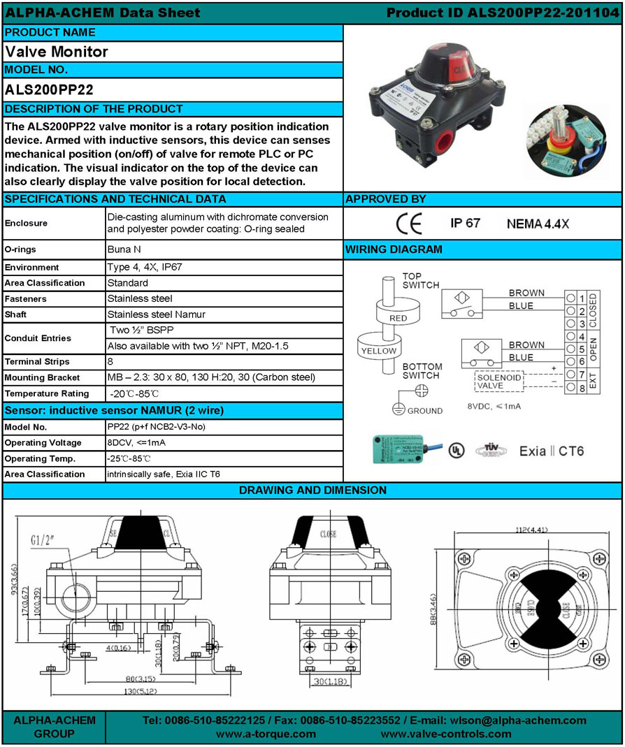Proximity Sensor Box (ALS200PP22) - Wuxi AFL Flow Controls Equipment ...