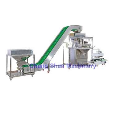 JS-30 with Storage Tank + Input Conveyor + Continuous Bag Sealer