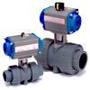 Pneumatic Actuated Ball Valve - Spring Return Type - CQ Series
