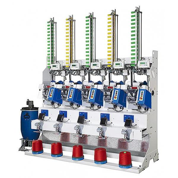 Automatic Bonded Yarn Cross Cone Winder (5 Spindles) (for kingspool - embroidery thread)