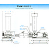 Roots Blower - Outside Dimensions - THW Type
