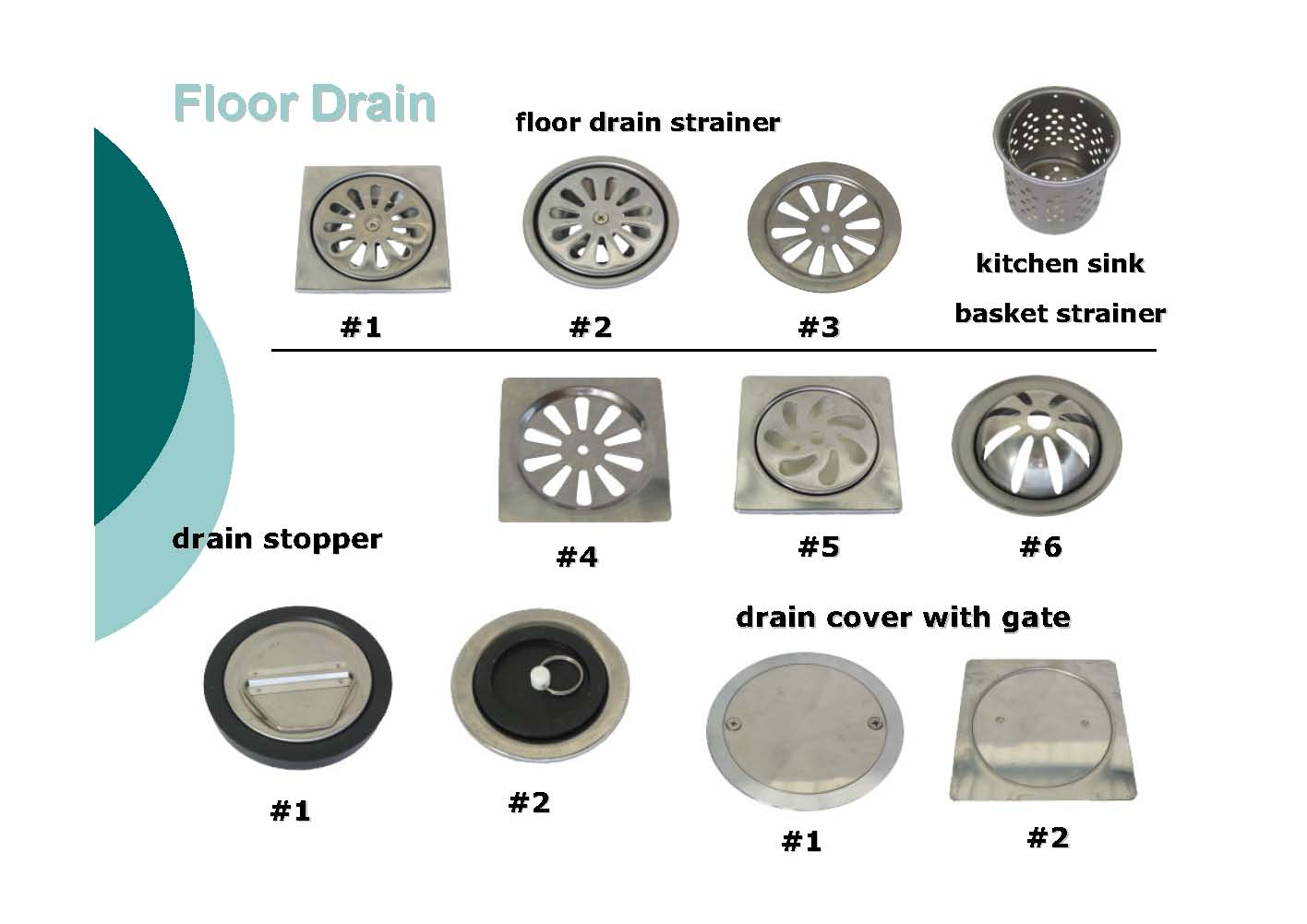 Bathroom Floor Drain Strainer : Floor drain flat strainer bathroom