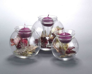 Glass candle holder 09