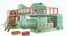 clay brick making machine Double stage vacuum extruder