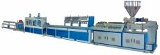 wood and plastic profile production line