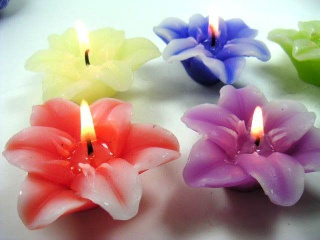 flower candles - DY0009
