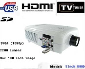 HDTV multimedia projector with HDMI/VGA/widescreen