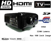 HDTV home theatre projector with HDMI/VGA/widescreen
