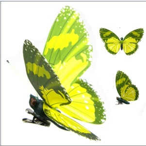 Artificial Butterfly with Clip