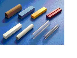Irregular-shaped plastic extrusion products, plastic tubes and strips, aluminum foil decorative strips