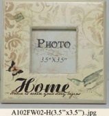 Wooden photo frame w/water transfer print