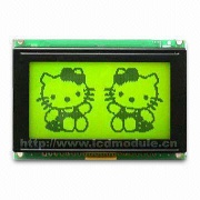 128 x 64 Dot Matrix Graphic LCD Module: Yellow-green Mode with Backlight