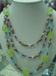 multi-color beads necklace-fashion jewelry