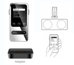 ipod wireless remote control with OLED display