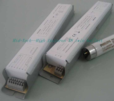 Electronic ballast for twin T8 lamps