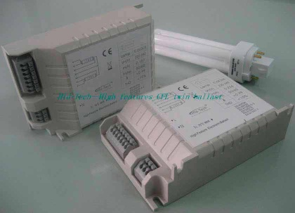 Electronic ballast for twin CFL