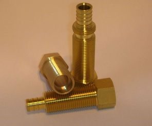 precision cnc machined brass parts