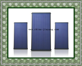 Split flat plate solar water collecor