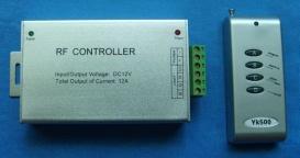 Питание от блоков питания 12VDC, усиление сигнала с помощью RGB усилитель сигнала Am-2 см также схему подключения.
