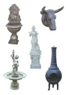 Cast iron fountain,wall fountain,conduit,statuary,stove,chimenea
