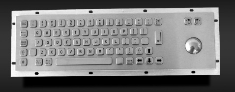 Metal keyboard with trackball - KMY299B