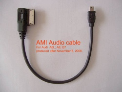 AMI Audio cable for A6,A8,Q7 - AMI Audio cable