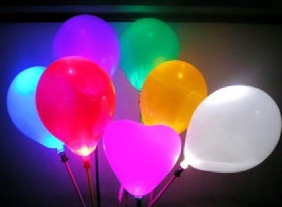 LED balloon, Flashing Shiny Balloon - smb