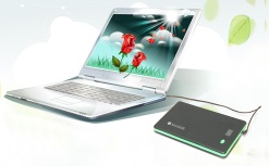 Universal external laptop battery backup with16V/19V output