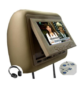 7inch Headrest DVD with USB with SD/MMC/MS with Game with TV with Touch Screen with IR Transmitter with pillow.
