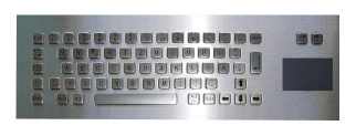 Metal keyboard with touchpad  - F65-PC45