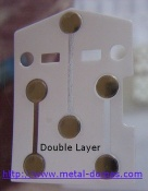 Metal Dome Array -- Double Layer