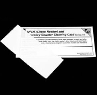 Check scanner cleaning card - Check scanner