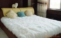 bedspread with fur material