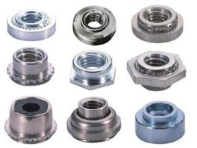 Self clinching nuts, clinch, PEM standard nuts, CLS, steel nuts - Self clinching nuts