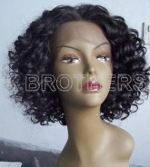 Stylish curly synthetic lace front wig