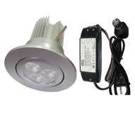 dimmable LED down light 3X3W