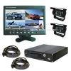 4CH Vehicle Mobile DVR with 7-inch LCD Monitor and Security Cameras