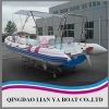 rib boat with motors for pleasure and sports use