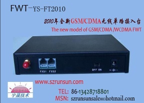 ONE CHANNEL SINGLE GSM/CDMA FWT/GATEWAY