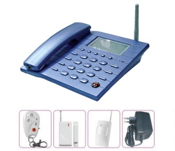 GSM alarm system with telephone and SMS function