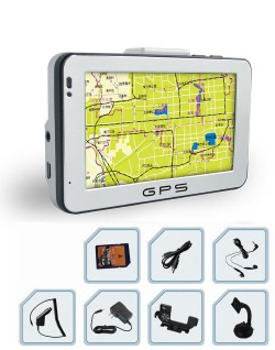 CAR GPS NAVIGATION WITH 4.3 INCHES TFT TOUCH SCREEN WITH MP3 MP4
