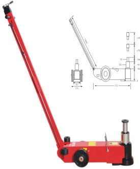 air hydraulic jack/pneumatic jack - S25-2J
