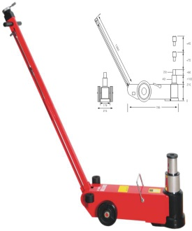 air hydraulic jack/pneumatic jack - S40-2J