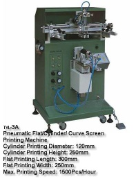 screen printing machine for circle and ellipse objective